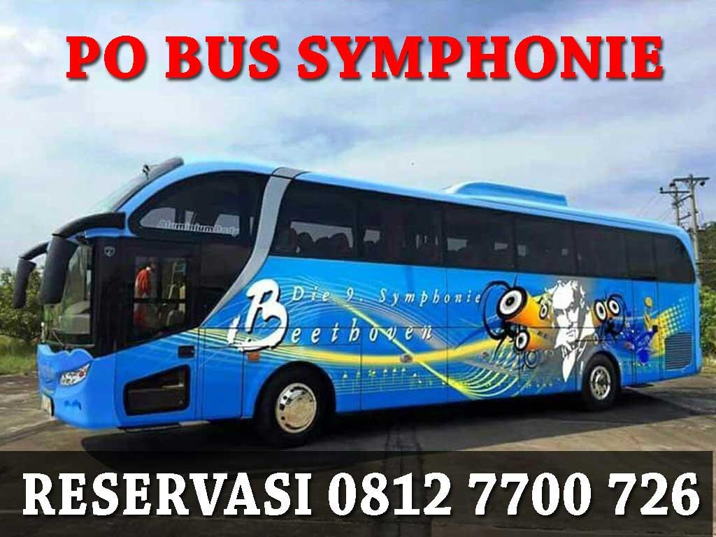 Sewa bus Pariwisata Symphonie Halim Trans Harga murah